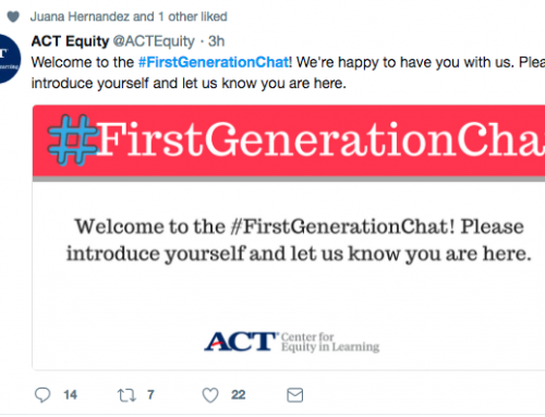 #FirstGenerationChat Shares Resources For One Third of College Students
