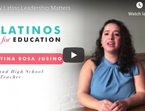 Teacher Shares Power of Latino Leadership in Schools