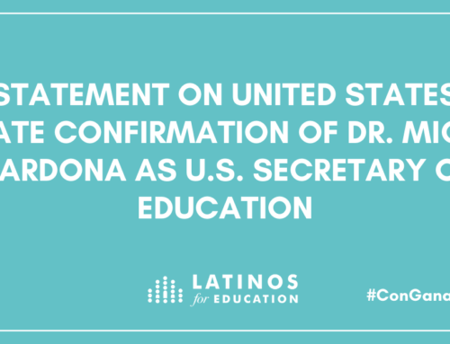 Statement from Latinos for Education on United States Senate Confirmation of Dr. Miguel Cardona as U.S. Secretary Of Education