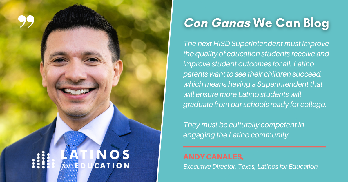 Latinos for Education HISD Superintendent Search Blog